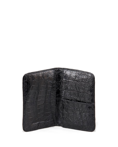 Crocodile Card Case, Black