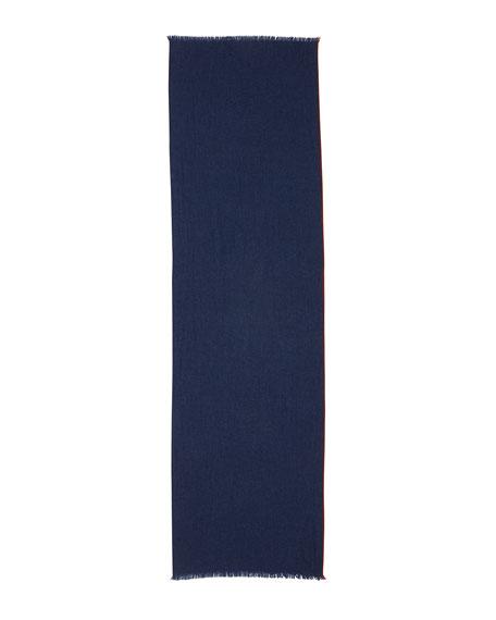 Cashmere Golden Garza Scarf, Blue