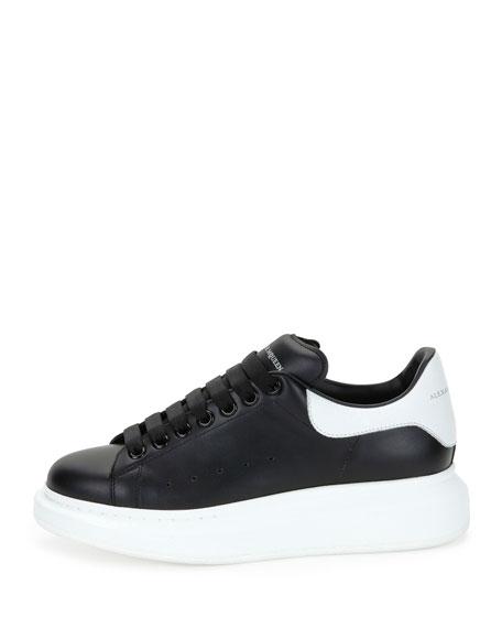 Bicolor Leather Low-Top Sneaker