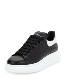 Men's Bicolor Leather Low Top Sneakers by Alexander Mc Queen