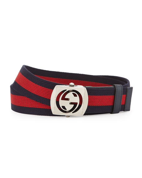 Canvas Belt with Cutout Buckle