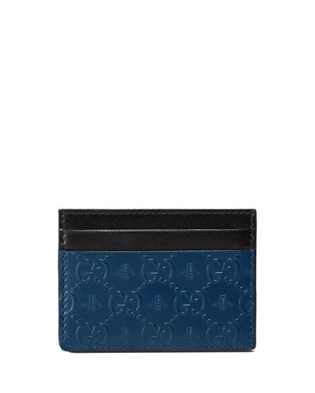 GG Alveare Card Case, Blue