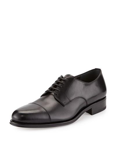 Calfskin Cap-Toe Oxford  Black