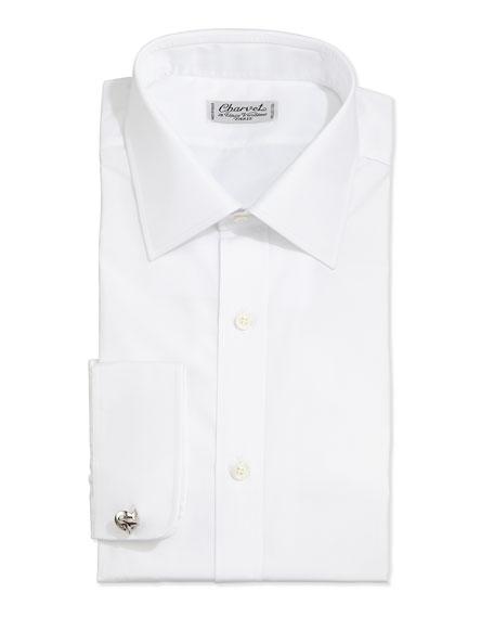 Solid Poplin Dress Shirt, White