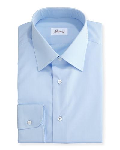 Wardrobe Essential Solid Dress Shirt  Blue