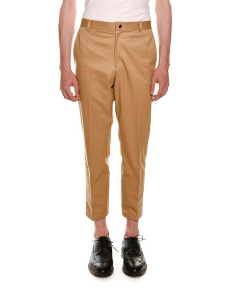 Cropped Twill Chino Pants