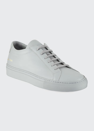 Men's Achilles Leather Low-Top  Gray
