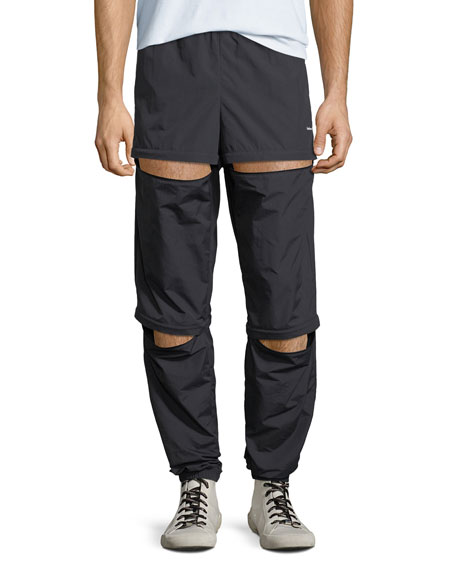 Men's Zip-Panel Convertible Track Pants