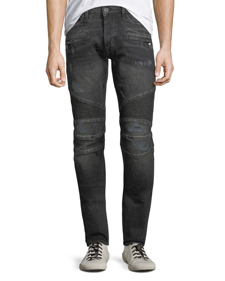 Men's Blinder Distressed Biker Jeans, Hacker