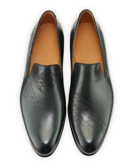 Men's Cambridge Scritto Leather Slip-On Dress Shoes