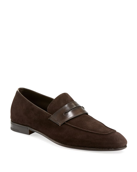 Lasola Soft Suede Penny Loafer, Brown