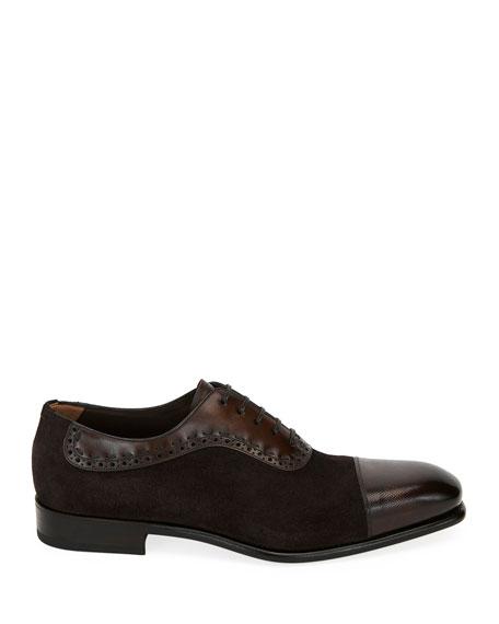 Men's Two-Tone Derby Dress Shoes
