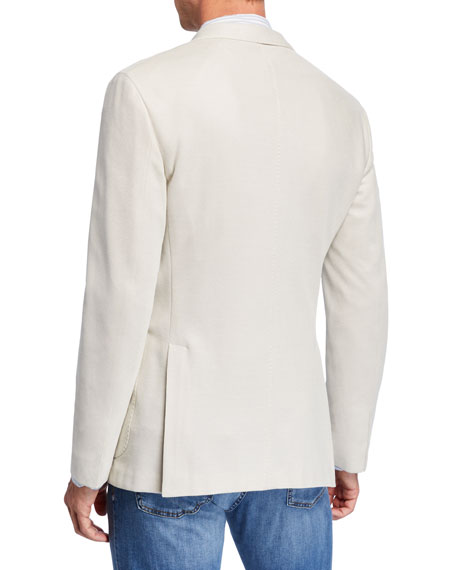 Men's Solid Pique Two-Button Jacket