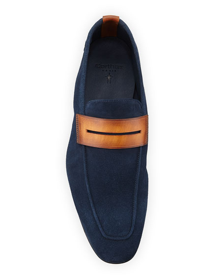 Men's Soft Suede Penny Loafers