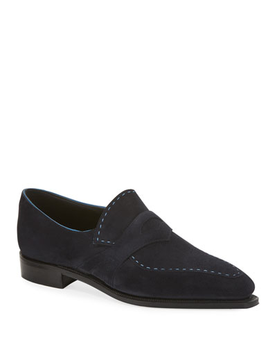 Men's Rascaille Suede Penny Loafers