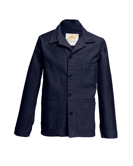 Men's Stone-Washed French Worker Jacket