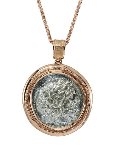 Authentic Philip II Coin Pendant in 18k Rose Gold