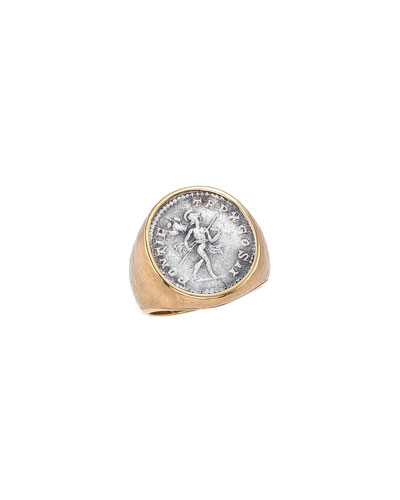 Men's  Mars Ancient Coin 18K Gold Ring