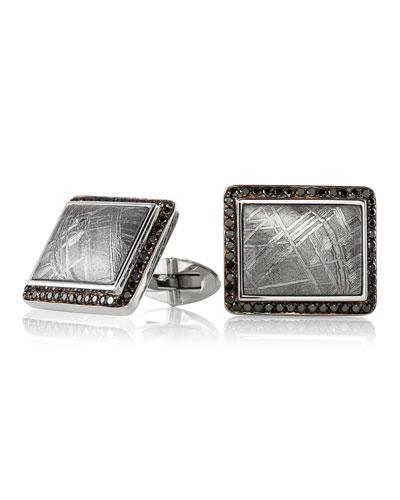 Authentic Muonionalusta Meteorite Cufflinks