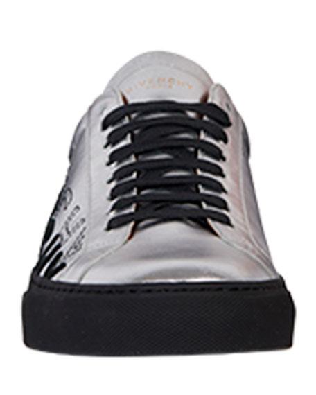 Men's Urban Street Metallic Logo Sneakers