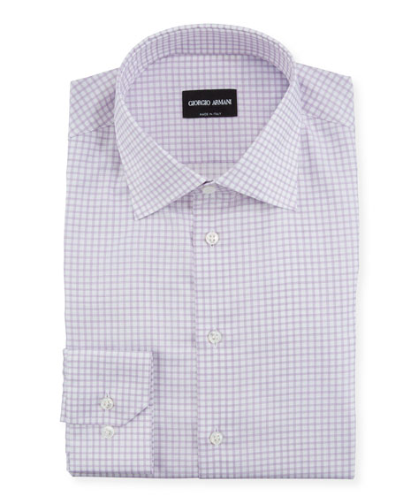 Image 1 of 1: Men's Graph-Check Dress Shirt