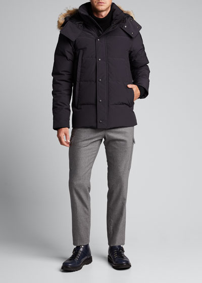 Men's Wyndham Fur-Trim Parka
