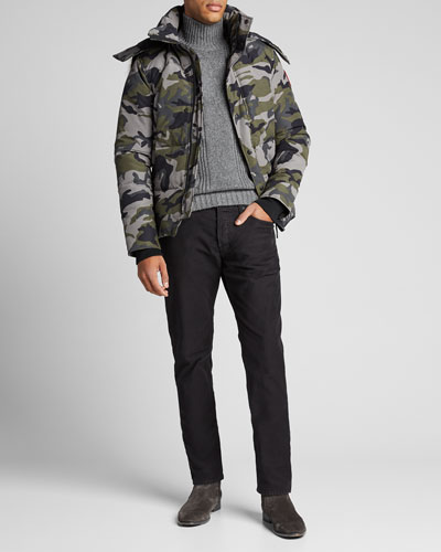 Men's Wyndham  Fusion-Fit Camo Down Parka with Fur-Trim Hood