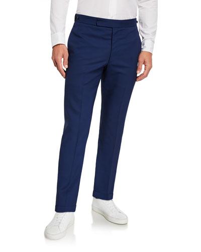 Men's Sebastian Solid Wool Suiting Pants