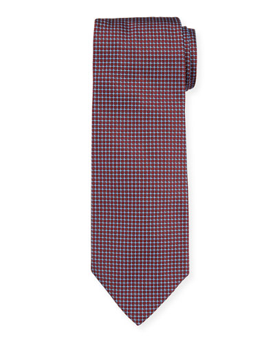 Patterned Mulberry Silk Tie