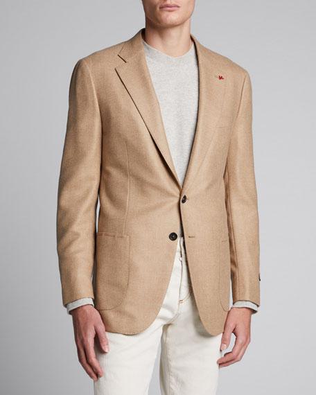 Men's Two-Button Twill Blazer