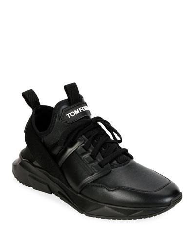 Men's Tonal Leather Trainer Sneakers