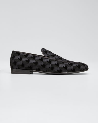 Men's Lido Textured Evening Loafers