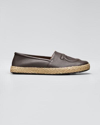 Men's Summer Gancio Leather Espadrilles