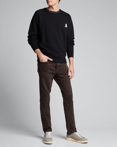 Men's Pizza Rat Applique Sweatshirt