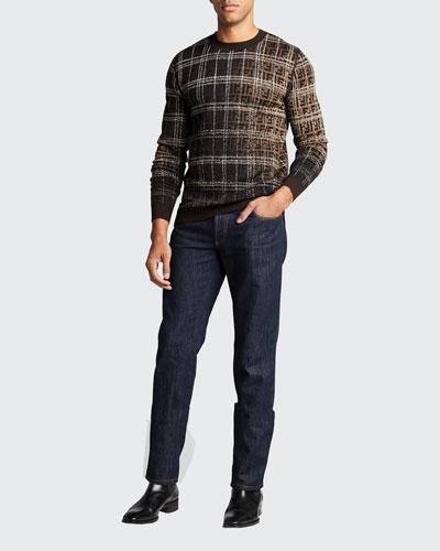 Men's Blurred-FF Wool Sweater