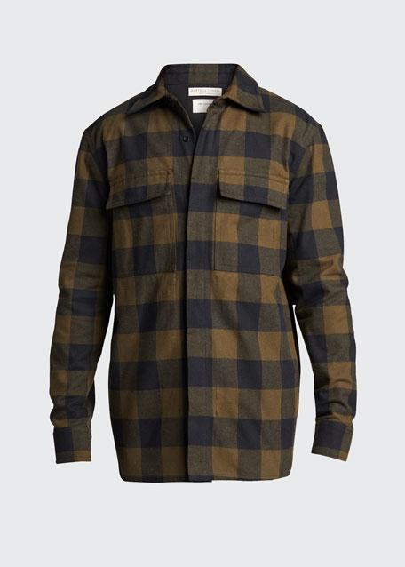 Men's Buffalo Check Shirt Jacket