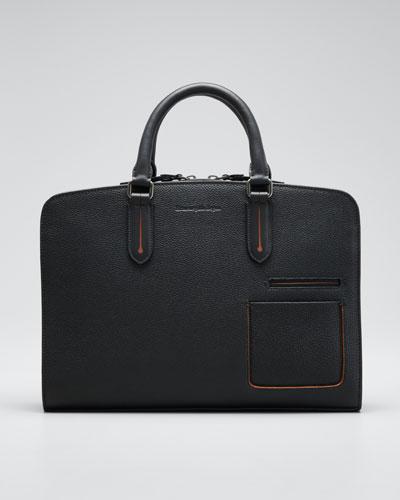 Men's Blazer Leather Briefcase