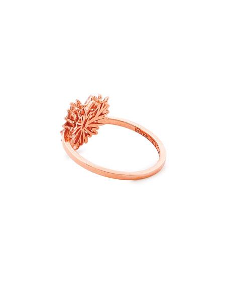 18k Rose Gold Diamond Mini Heart Ring, Size 6.5