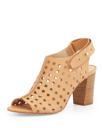Alix Open-Toe Perforated Ankle Boot