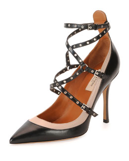 Love Latch Strappy Grommet Leather Sandal