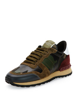 Camupeace Camo-Print Leather Sneaker