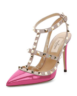 Rockstud Patent Leather Pump