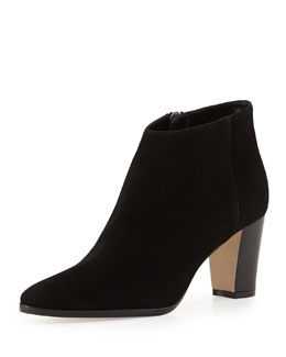Brustamod Suede Block-Heel Ankle Boot