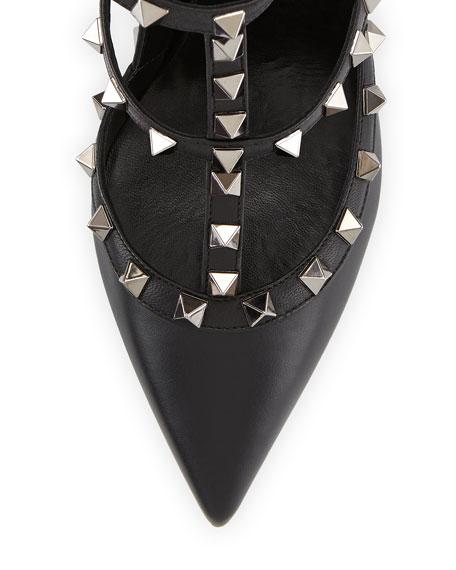Noir Rockstud Slingback Pump, Black