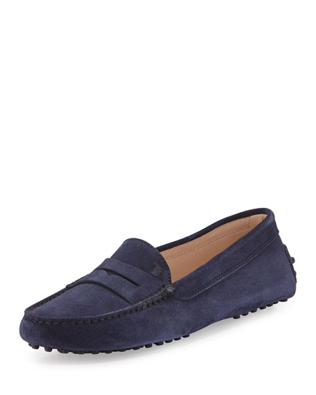 Tod's Gommini Suede Moccasin, Navy