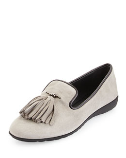 Tassel Suede Smoking Slipper
