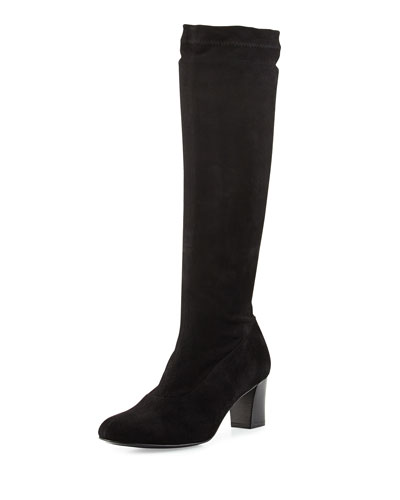 Passacj Suede Block-Heel Knee Boot