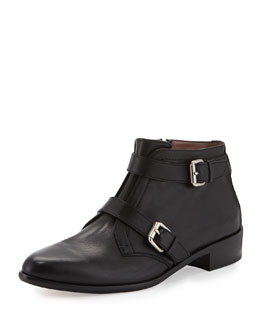 Windle Buckled Leather Bootie