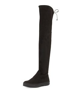 Playtime Ultra-Stretch Suede Over-The-Knee Boot