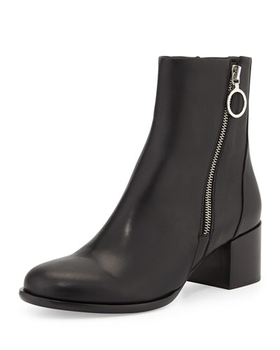 Avery Low-Heel Leather Ankle Boot